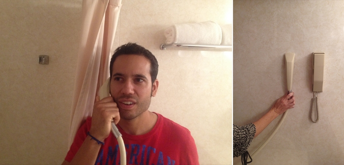 SHOWER HEAD? PHONE? WHICH IS WHICH?