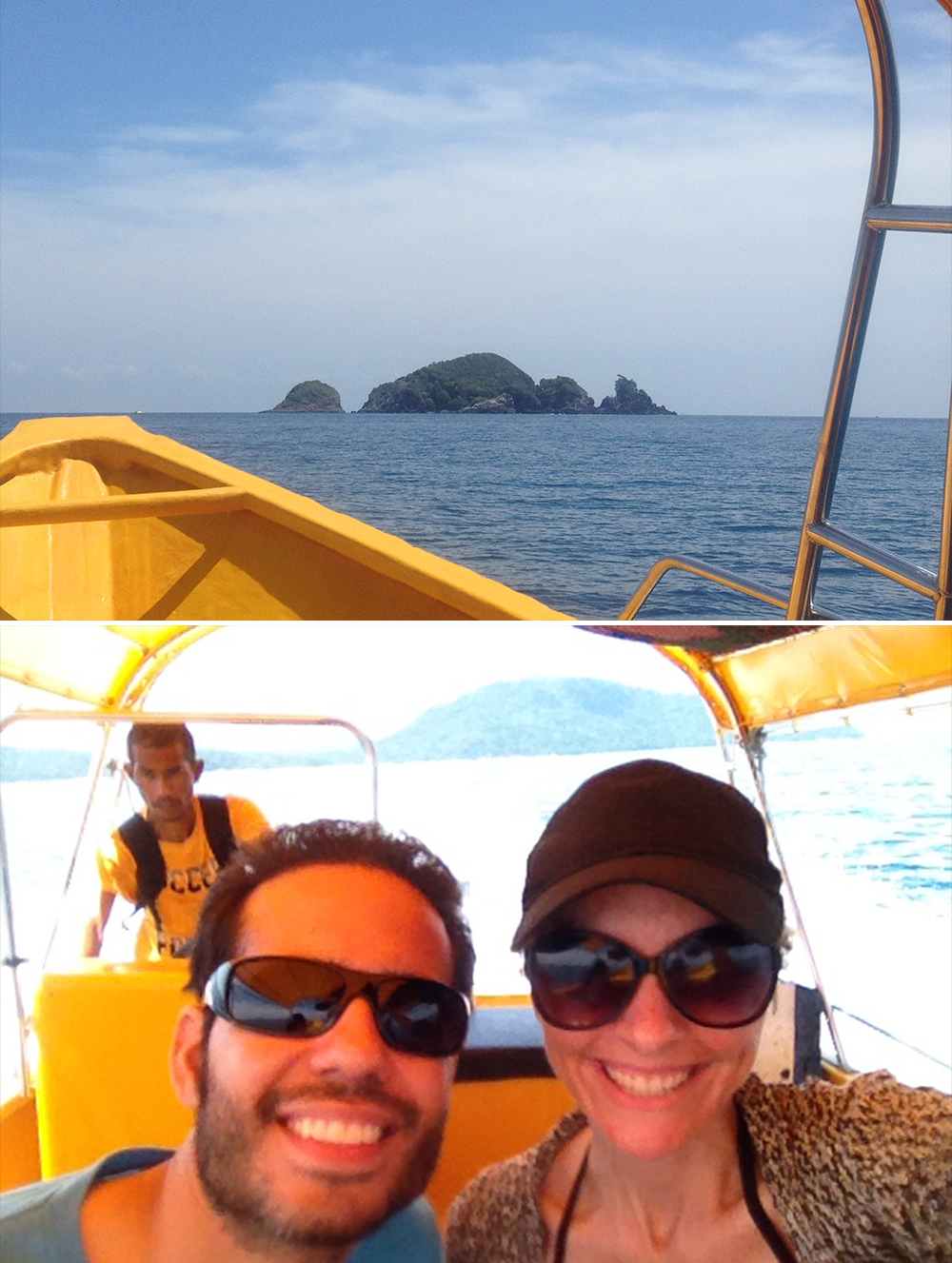 ONE OF THE MANY BOAT RIDES WE TOOK OUT TO SNORKEL.