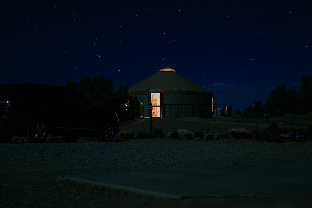 Stayed in our first yurt in Dead Horse Point State Park.