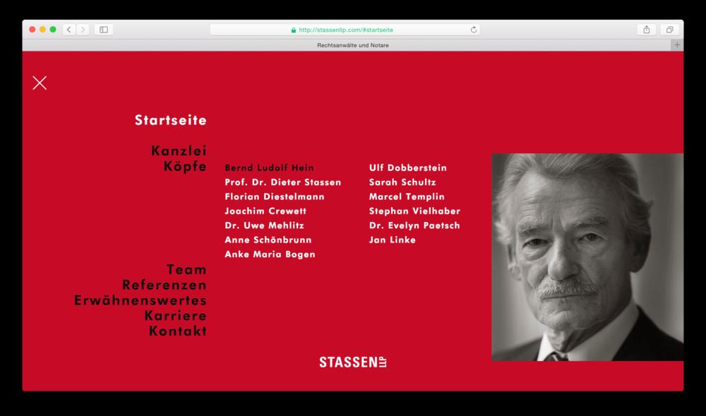Stassen Llp neue website für stassen llp ux design und technische umsetzung