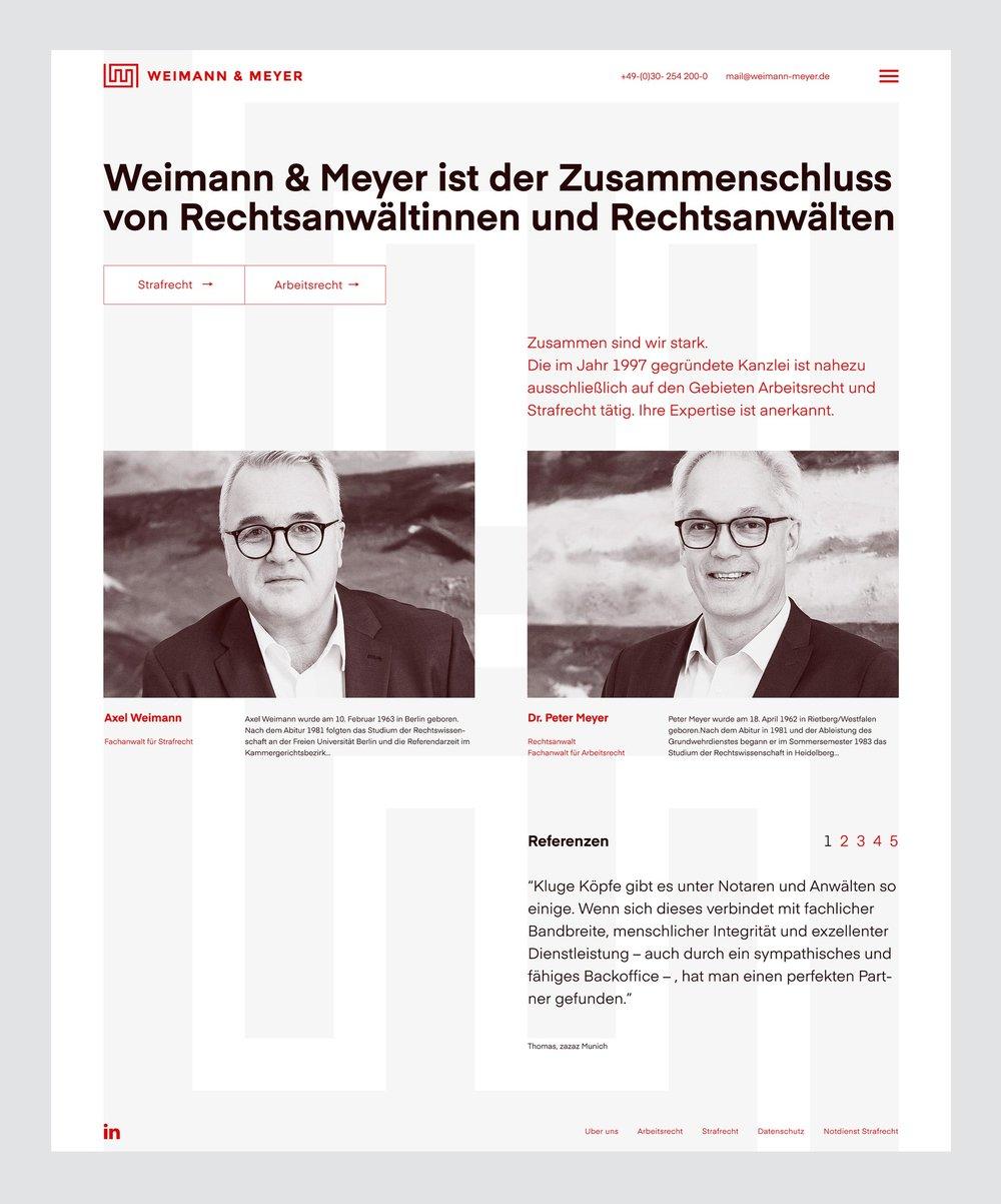 homepage - weimann & meyer