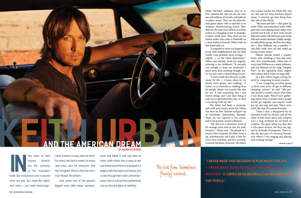 Keith Urban | Lisa Dunn Design