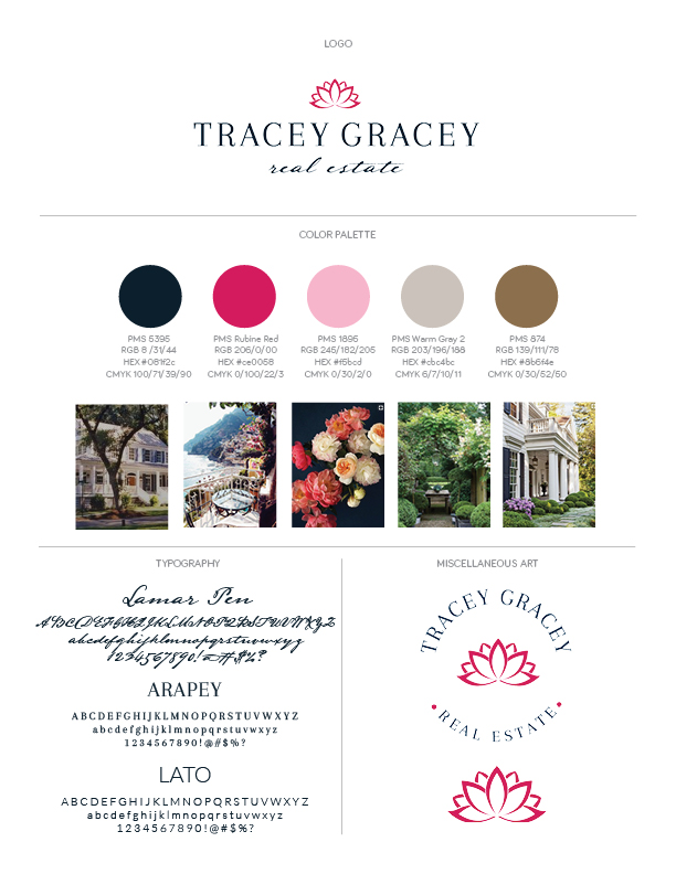 Tracey Gracey Brand Style Guide