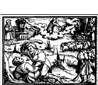 Cain and Abel , 1564. Woodcut, from  Die Gantze Bibel , printed in Germany by Christoph Froschauer. Courtesy of the Digital Image Archive, Pitts Theology Library, Emory University, Atlanta, Georgia.
