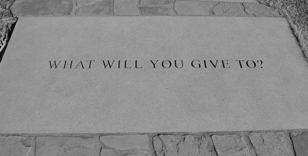 what will you give to