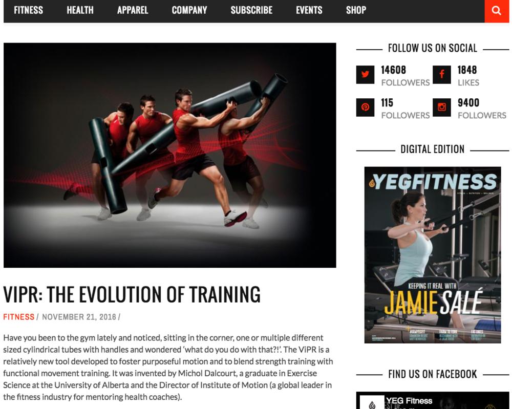 Breathe Trainer Nicole Lark Yeg Fitness ViPR exercise blog