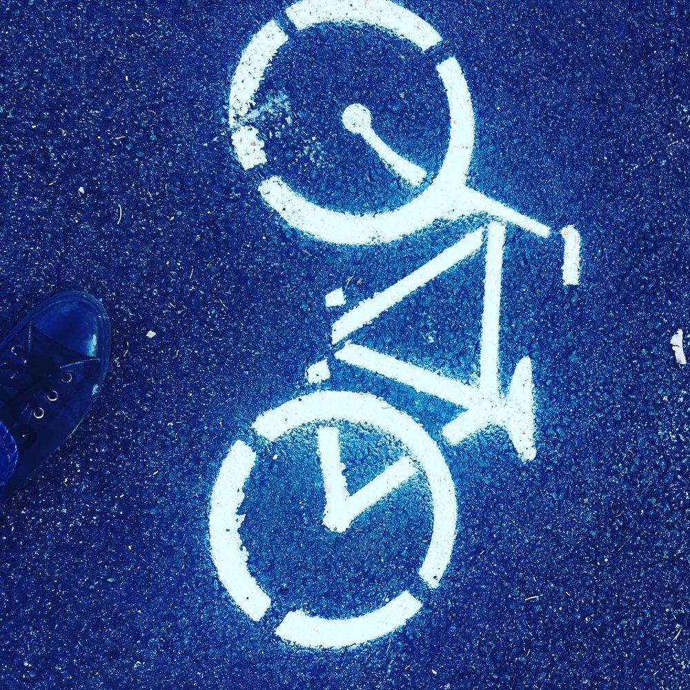 Bike silhouette for Breathe Fitness bike storage