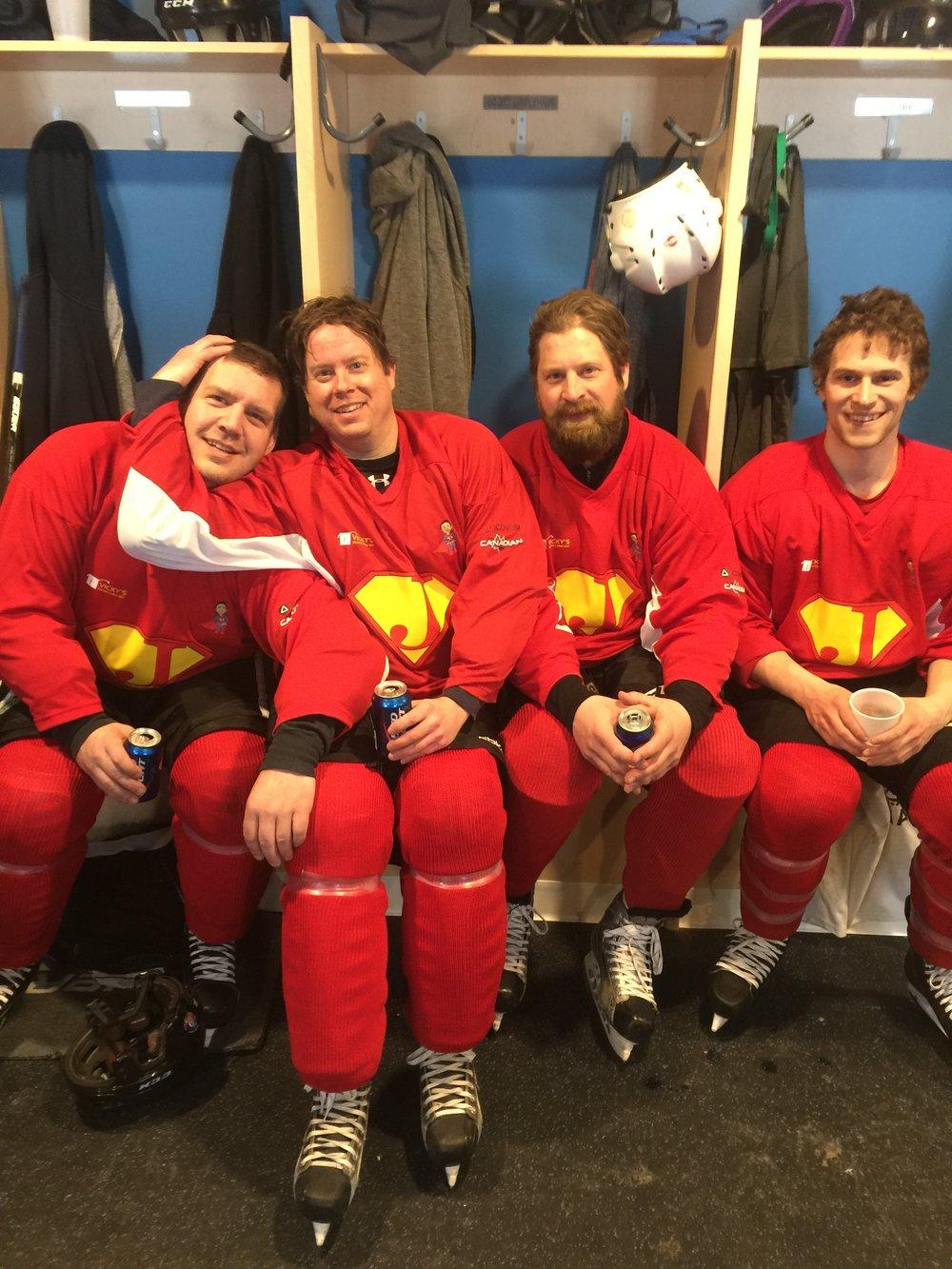 Jacob's Wish Fundraiser - hockey players