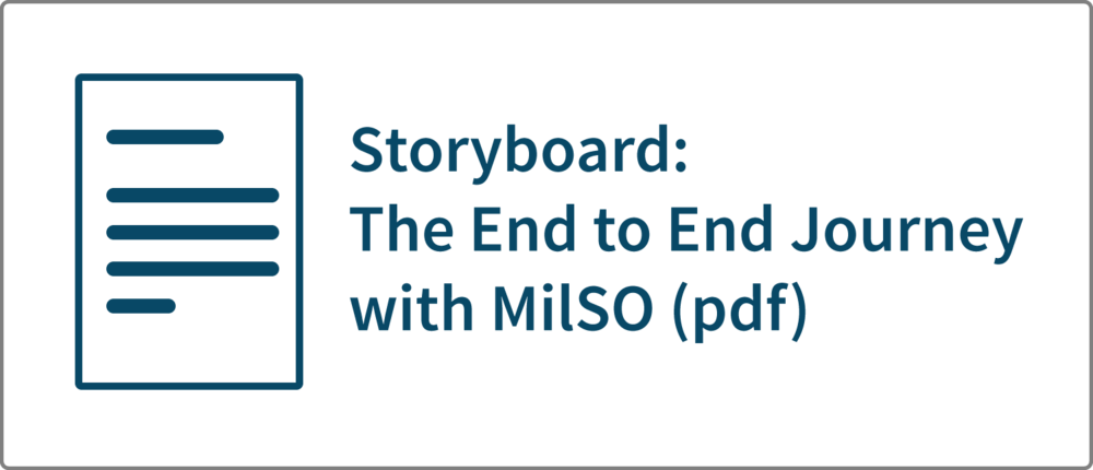 Storyboard: The End to End Journey with MilSO (pdf)