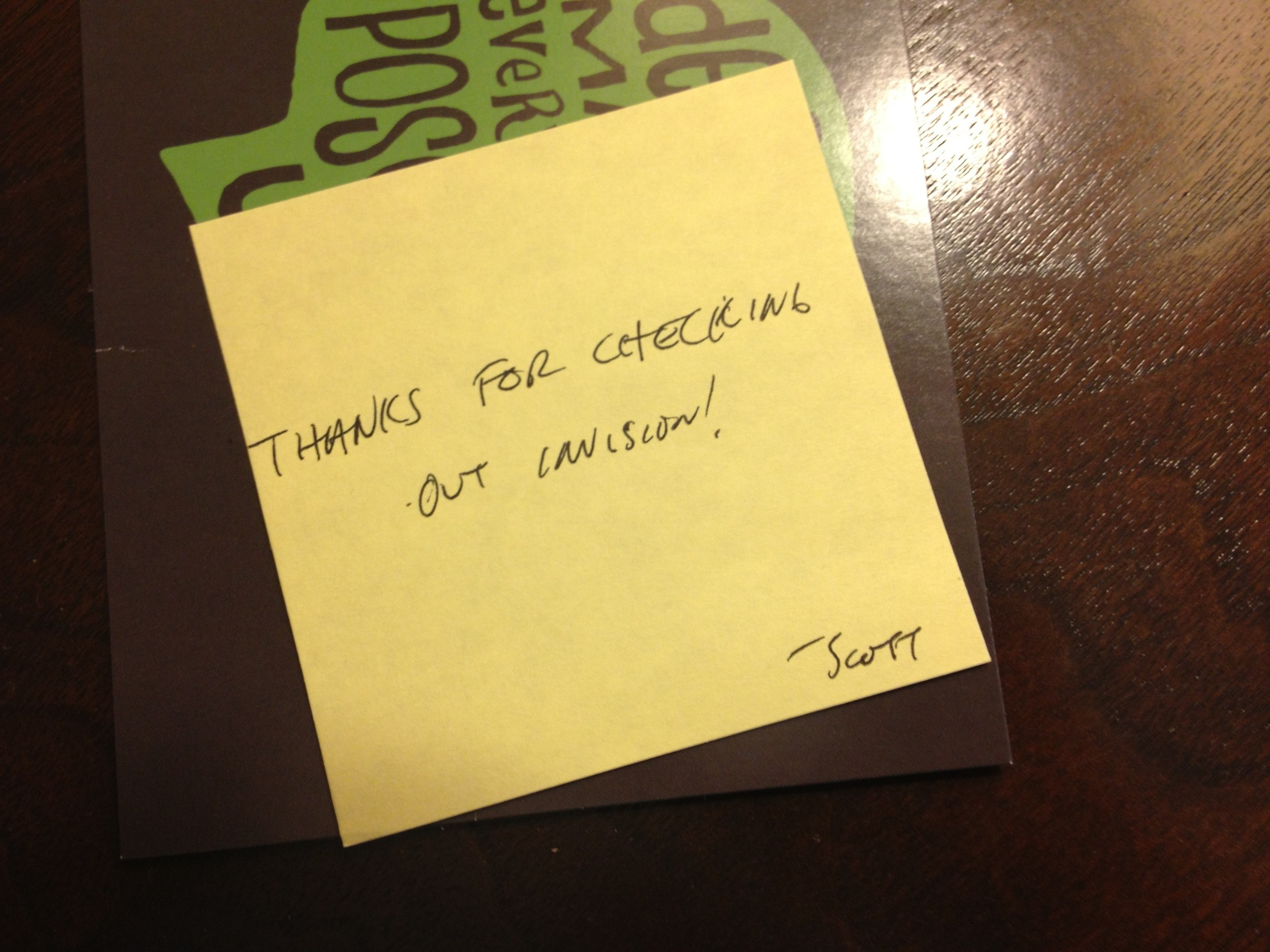 Handwritten Post-it