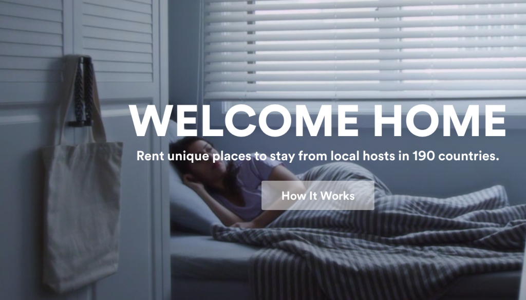Hero shot from Airbnb's homepage