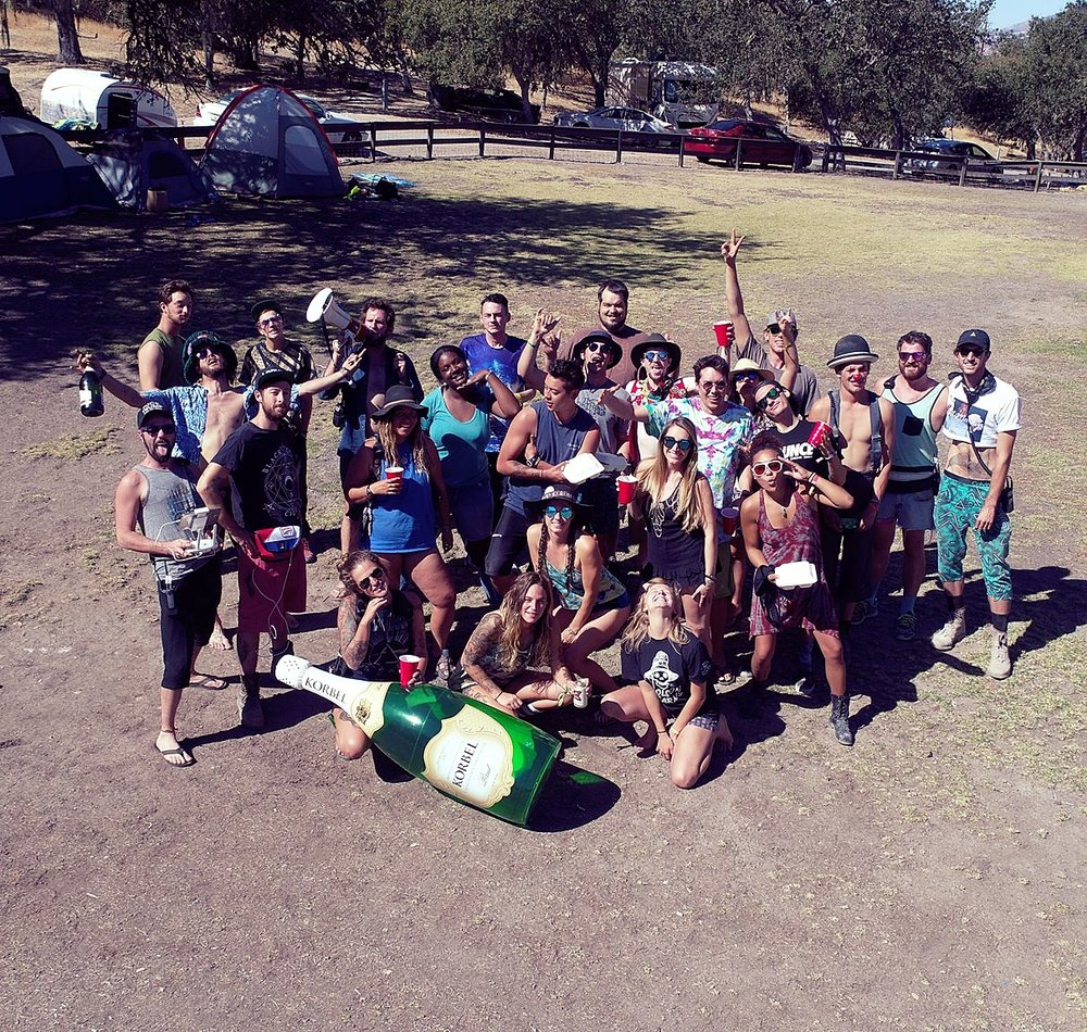 The squad at Dirtybird Campout West Coast this past October.