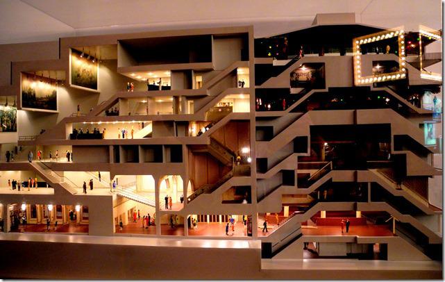 Elgin & Winter Garden Theatre - model cross-section