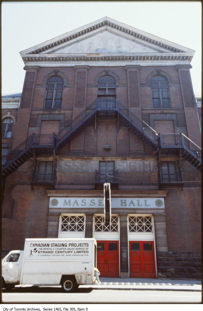 Massey Hall - exterior
