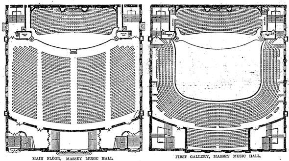 Massey Hall - floor plan