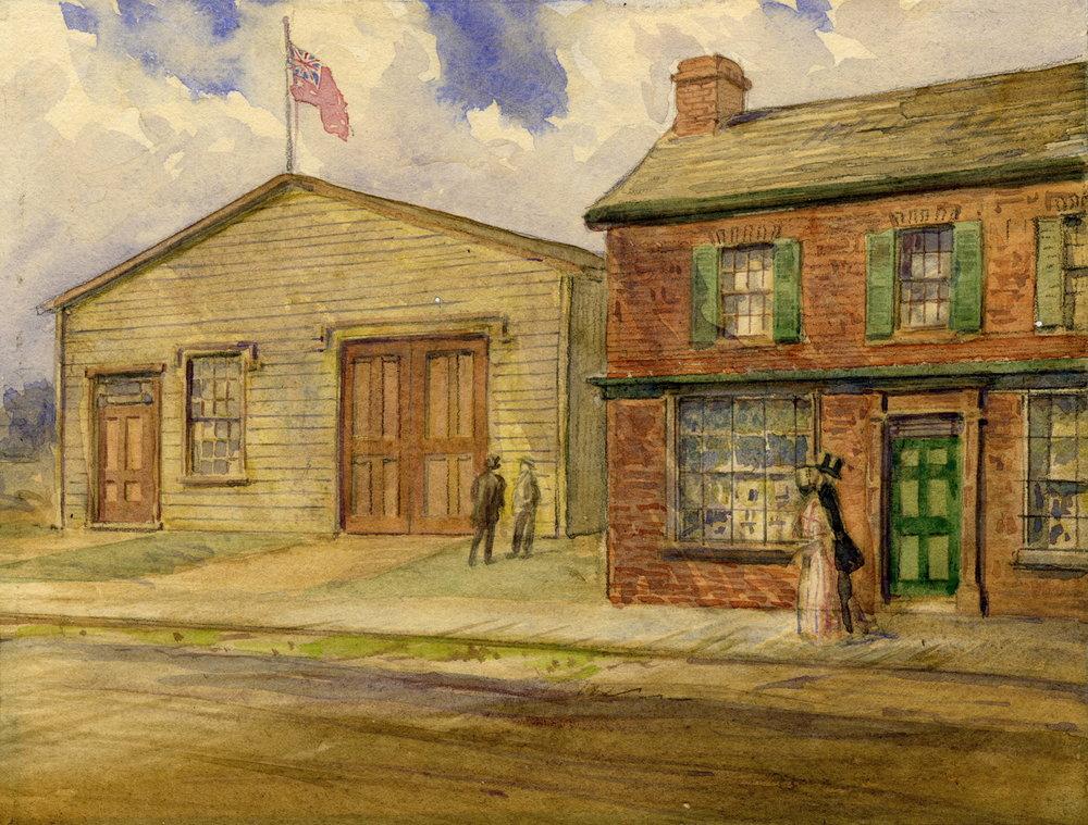 Queen's Theatre Toronto - watercolour, 1912
