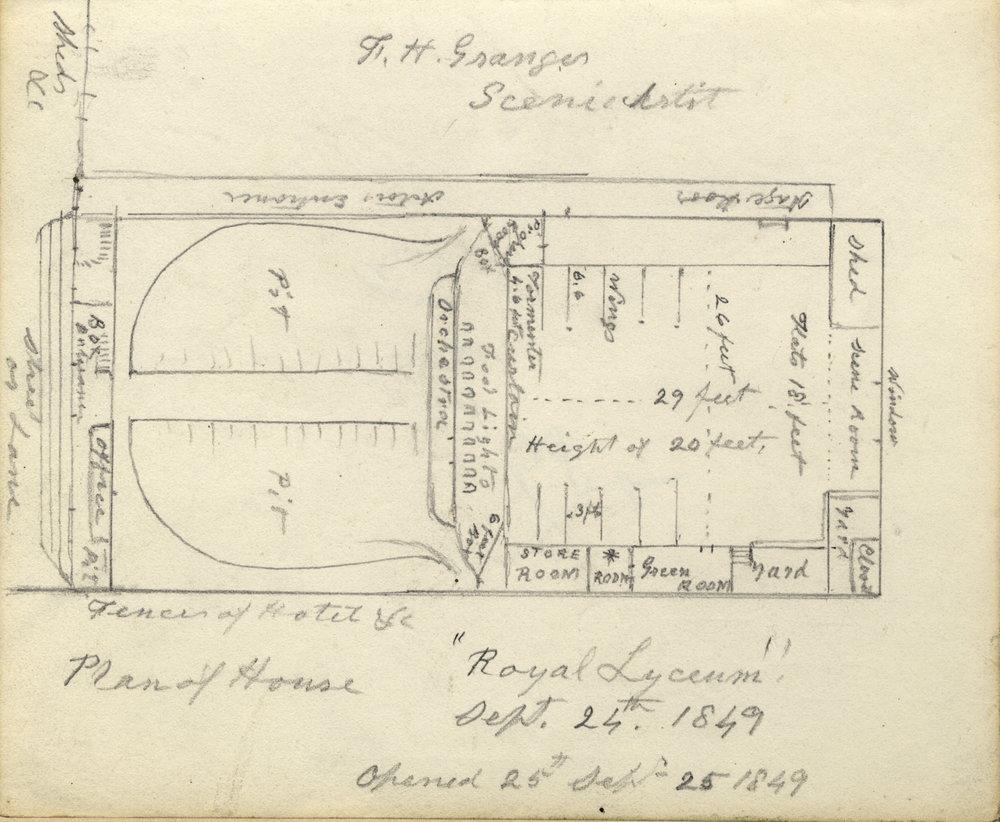 Royal Lyceum Theatre - floor plan