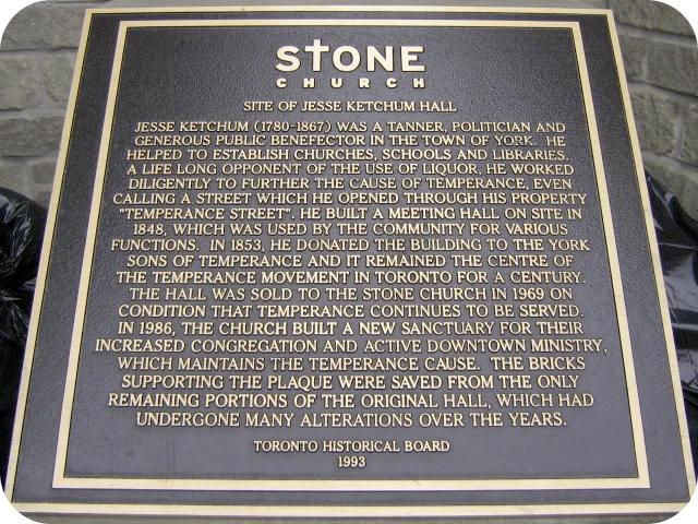 Stone Church - plaque