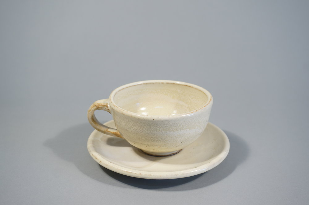 SODA FIRED CUP AND SAUCER