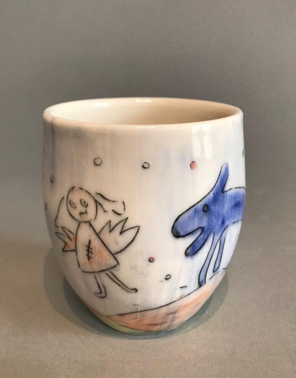 ANGEL BLUE DOG CUP