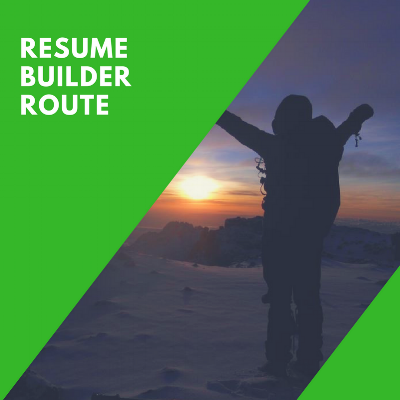 RESUME BUILDER ROUTE -