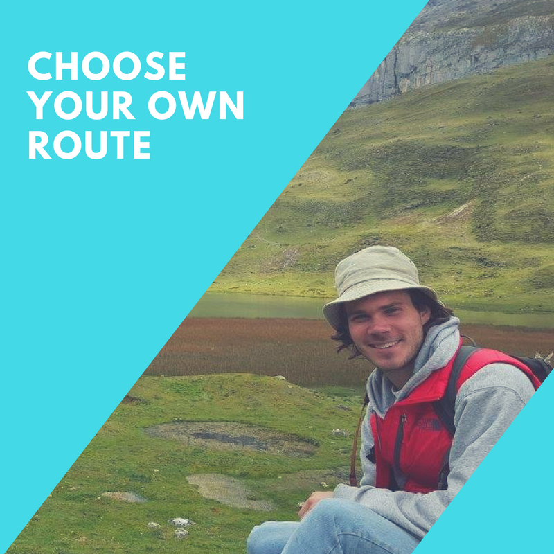 CHOOSE YOUR OWN ROUTE -