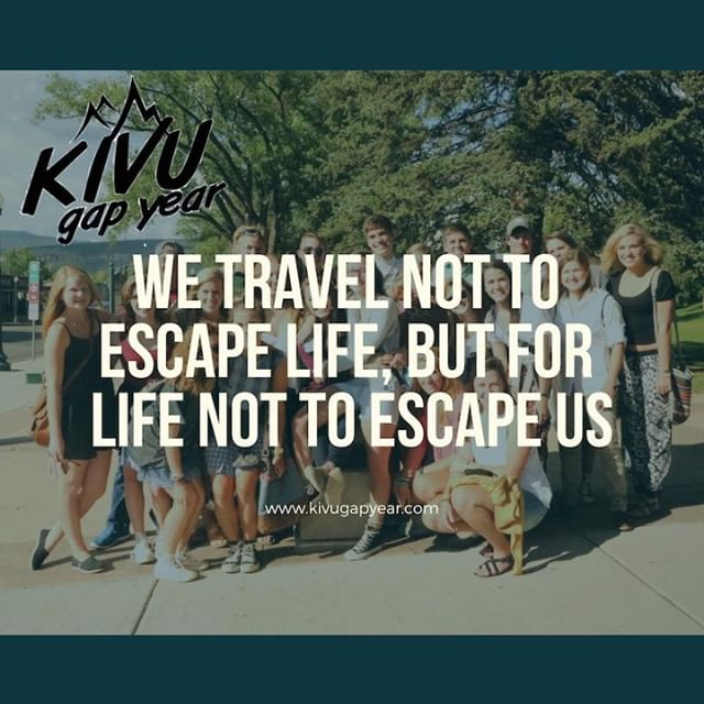 While you're thinking about next year, after high school, or take a break from college; remember the @kivugapyear provides 9 months of intentional travel for you to experience the world.  #kivugapyear #kivu #gapyear #education #university #experientialeducation #travelyear