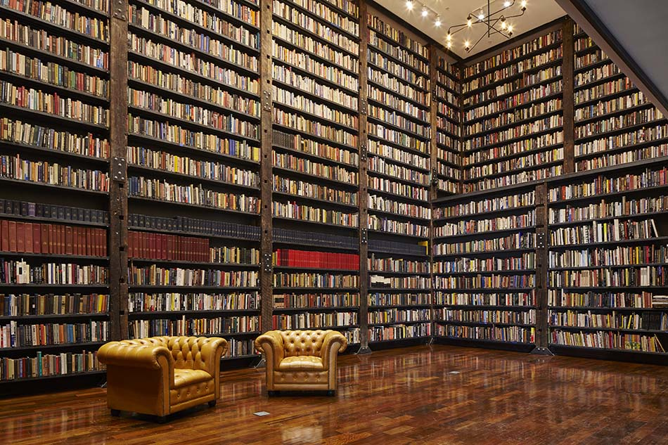 The Johnson Publishing Library at t he Stony Island Arts Bank.  Photo by Tom Harris. Courtesy of Rebuild Foundation.