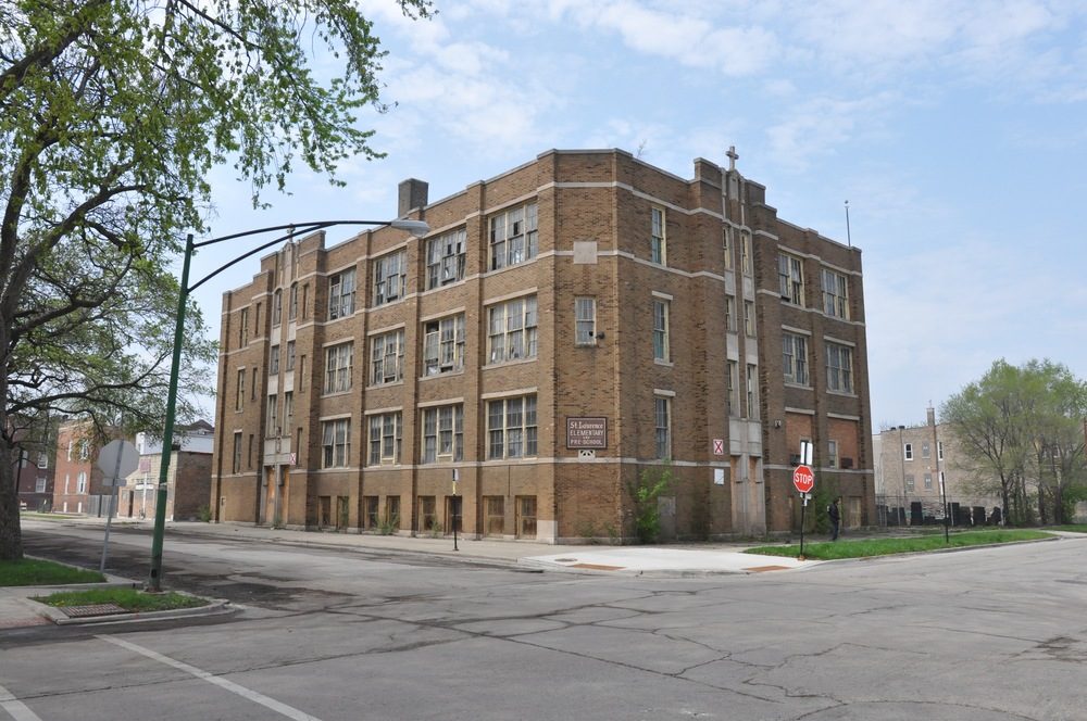 Former St. Laurence Elementary School in Grand Crossing. Photo: Place Lab.