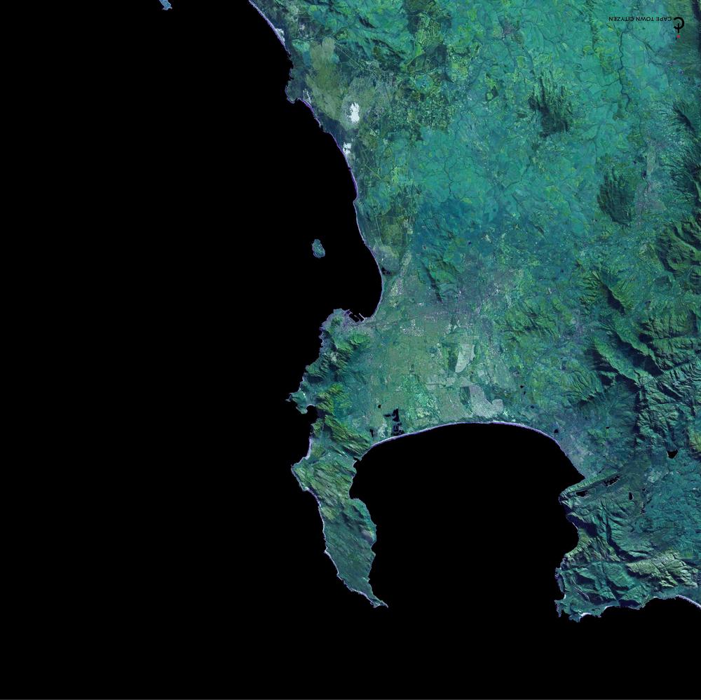 small size Cape Town Sq Scarf black & green 42 x42.jpg