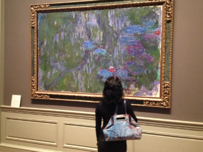 Paris Bag at The Met with Monet's Water Lilies