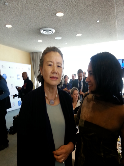 Yoo Soo-Taek, wife of Ban Ki Moon, Secretary General at the UN, Leading UN Women For Peace