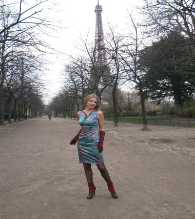 Paris Dress worn in Paris by Sveta Kayun