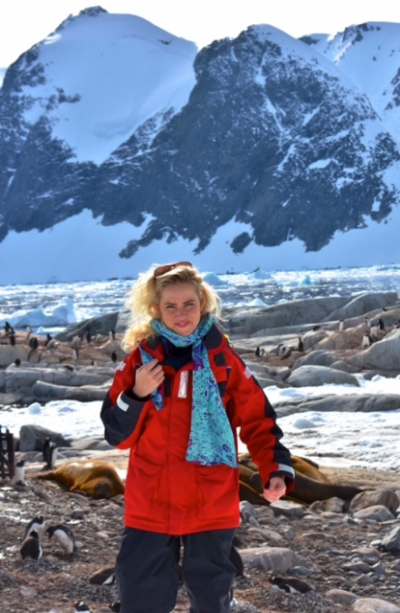 NY Scarf in South Pole- That is the farthest we have reached- Thank you Sadie Venetia