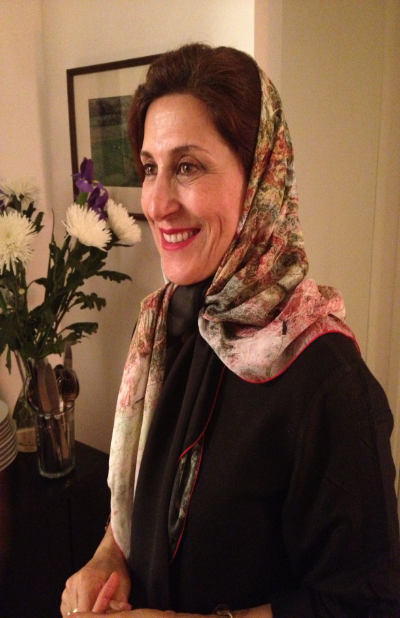 Fatemeh Motamed-Aria, a multi award winning Iranian Actress in the Tehran Scarf