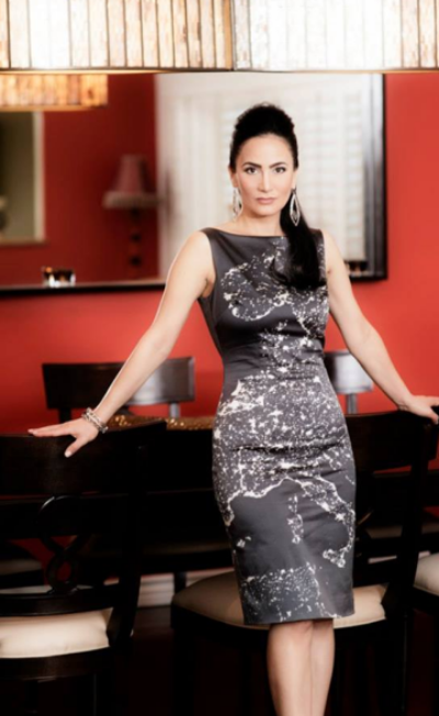 Bita Milanian in Europe Dress