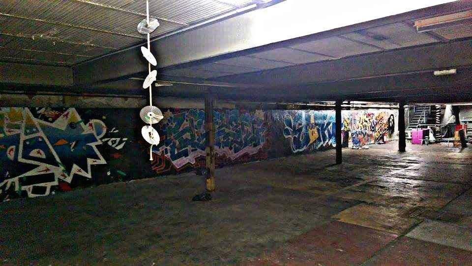 Un des nombreux endroits possédés le temps d'une soirée par  DISTRIKT,  à Clichy