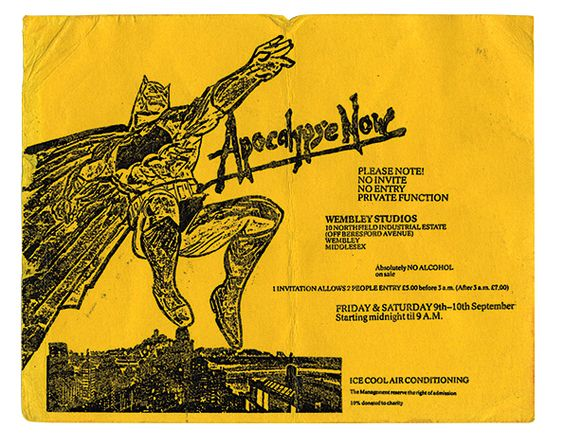 Apocalypse Now rave flyer