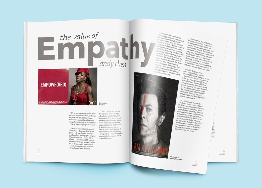 empathy article layout lauren bates design