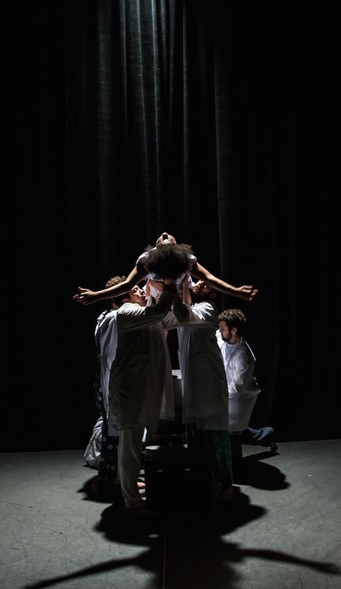 The cast of Artaud Artaud at Signature Theatre, Photo credit Kelly Stuart