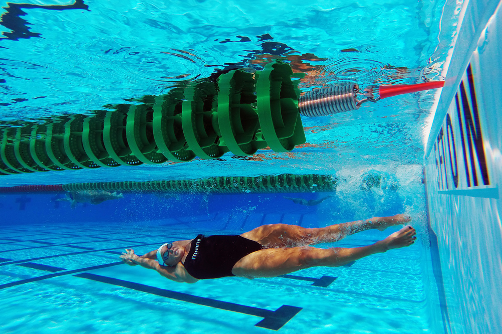 Recent University of Miami graduate and two-time Olympian Heather Arseth exits a flip turn during practice at Whitten University Center Pool on July 18, 2016.
