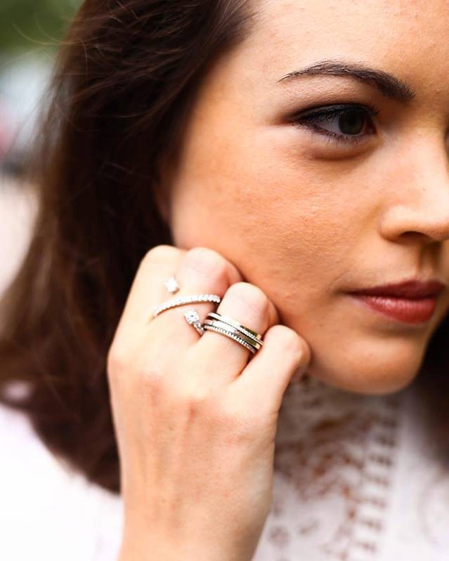 Beautiful photo of our Crossover Stone ring by E L Photography sent by @dressupgoout
