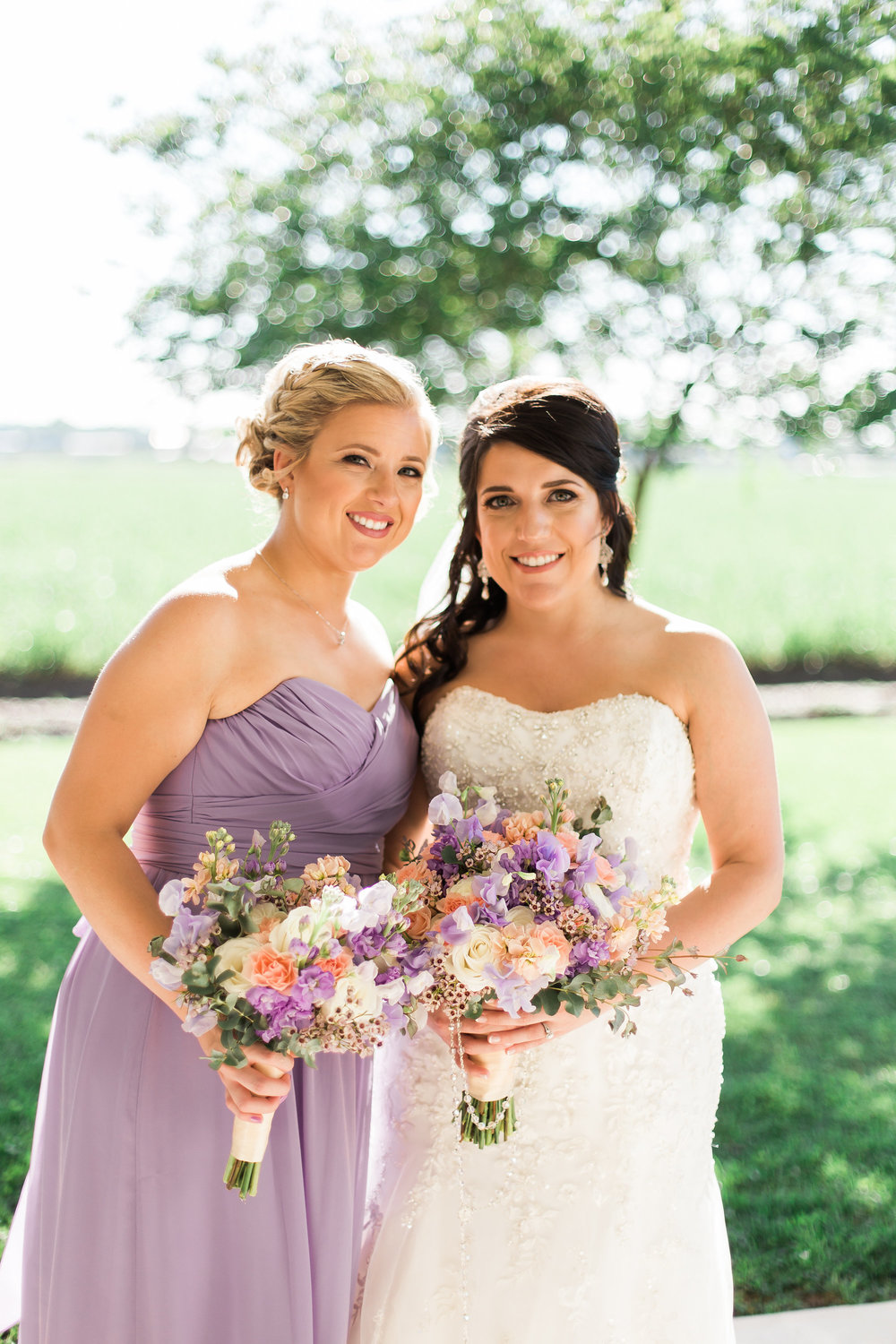 The bride and her bridesmaid!    Photo by Kaylie Nicole Photography