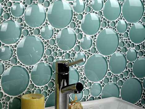 artistic backsplash