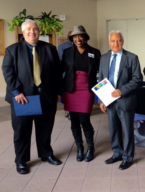 AHC Executive Director Amana Harris with the leaders of CALTRANS
