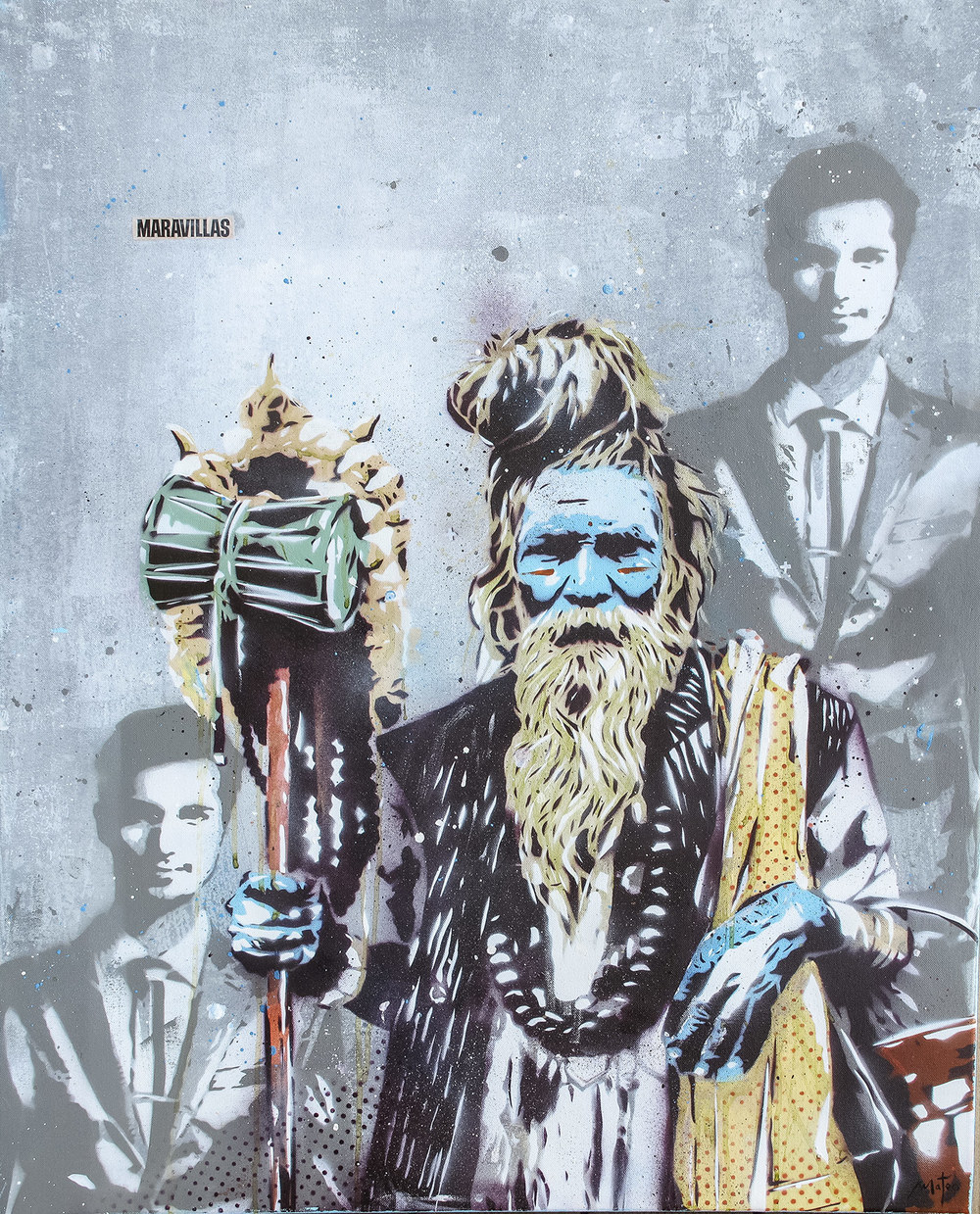 SÂDHU -stencil on canvas /88 x 68 cm /aug 2014