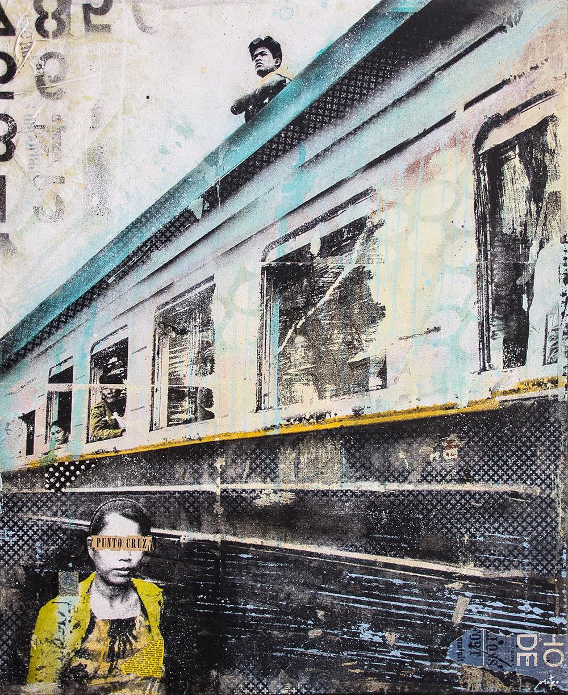 TRANSHUMANCE-mixed media on canvas