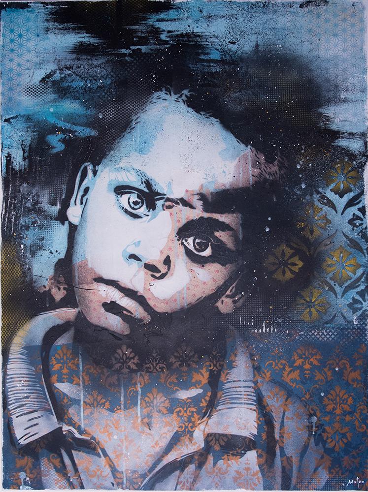 THIRD EYE - spray on canvas / 100x75 cm / 2016