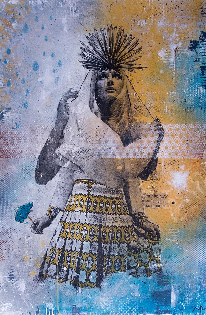 PORQUE SOMOS - Mixed Media on wood / 90x60cm /2016