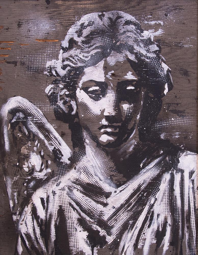 LA MUERTE DEL ANGEL - Acrylic on wood / 70x55cm / 2016